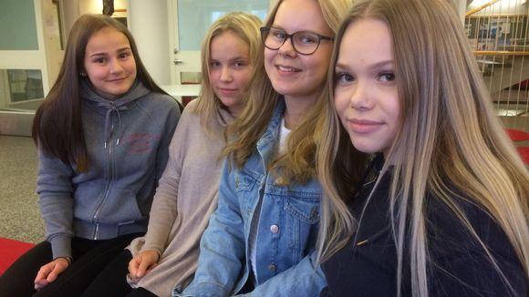 Sanni Issakainen, Julia Ikonen, Pinja Leppänen ja Anni Tirkkonen