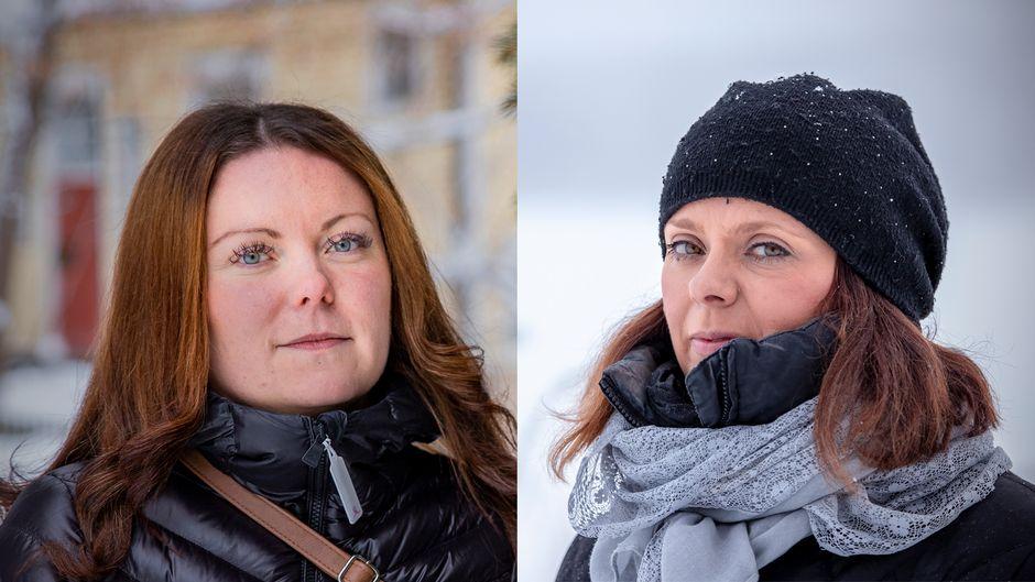 Tiia Korhonen ja Anna Kaikkonen.