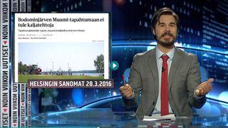 Jukka Lindström juontaa Noin viiko uutisia.