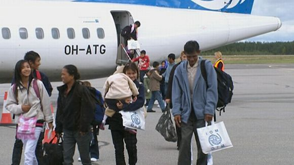 Kiintiöpakolaisia saapuu Vöyrin kuntaan syyskuussa 2010.