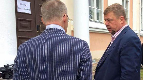 Pekka Perä Talvivaara-oikeudenkäynnin alkaessa 4.8.2015