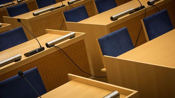 Kuvassa Kaustisen valtuuston istuntosali