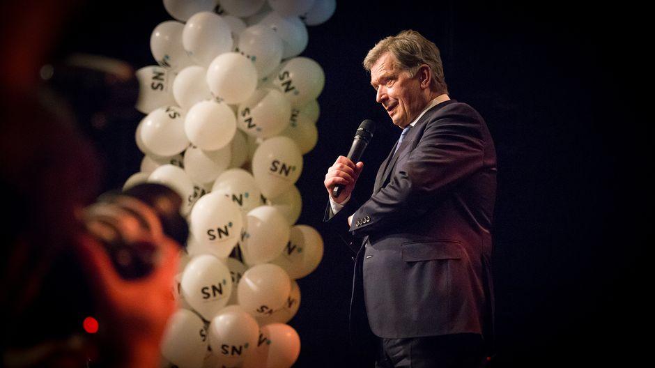 Sauli Niinistön kiitospuhe kannattajilleen vaalituloksen jälkeen.