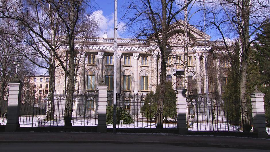 Venäjän suurlähetystö Tehtaankadulla.