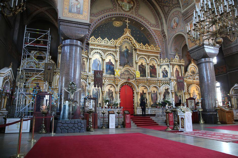 Upsenskin katedraalin ikonostaasi.