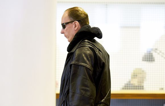 Sarjakuristajana tunnettu Michael Maria Penttilä Helsingin hovioikeudessa 13. maaliskuuta 2018.