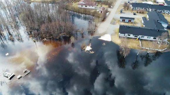 Видео: tulva-alue ja taloja