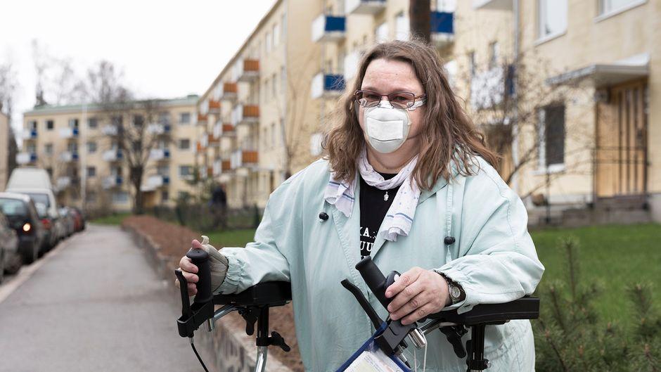 Helsinkiläinen työtön Anna-Maija Tikkanen.