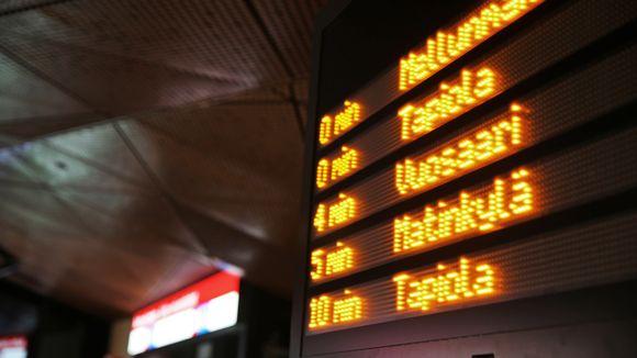 Metron aikataulunäyttö.