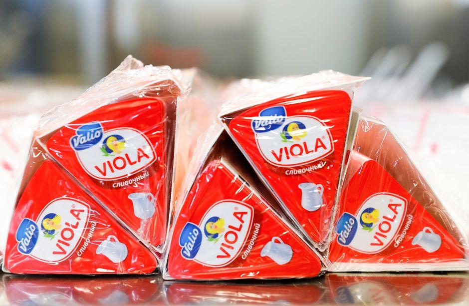 Viola-juusto venäläisessä pakkauksessa.