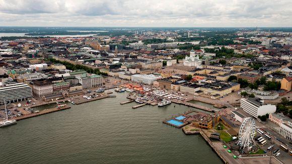 Ilmakuva Helsingistä.