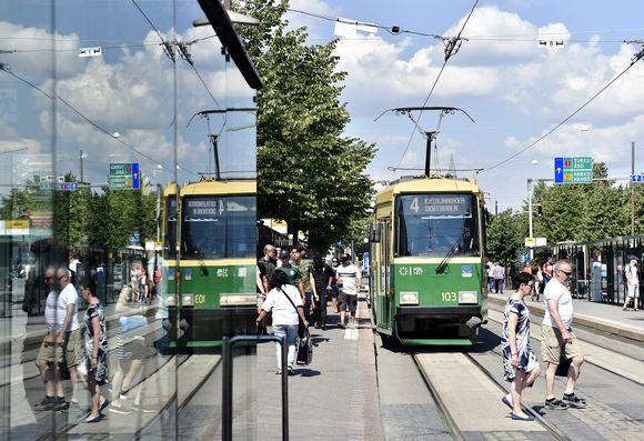 Raitiovaunu Helsingissä
