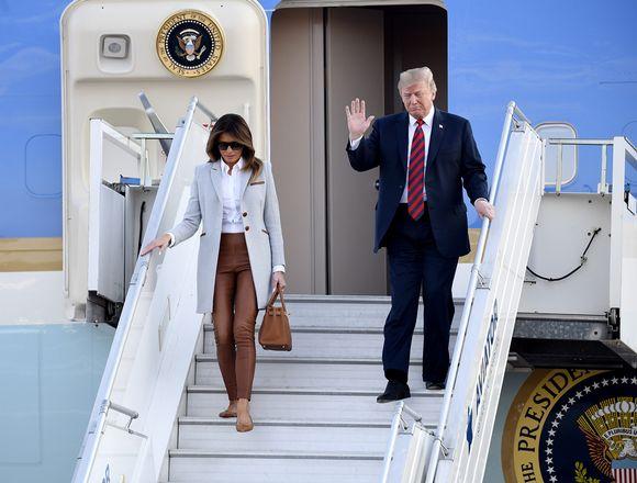 Donald ja Melanie Trump