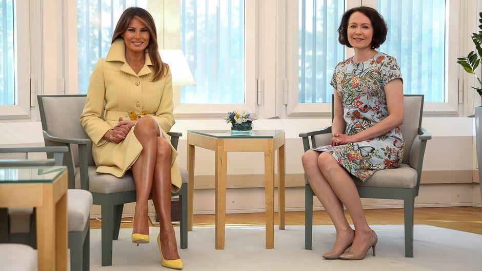 382907400e Melania Trump foregoes Finnish fashion