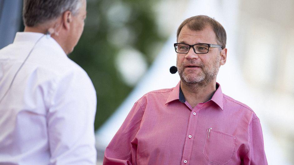 Pääministeri Juha Sipilä osallistui SuomiAreena-tapahtumaan Porissa 16. heinäkuuta.