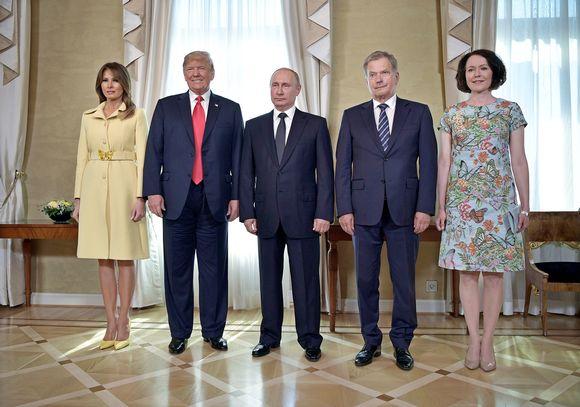 Melania Trump, Donald Trump, Vladimir Putin, Sauli Niinistö ja Jenni Haukio