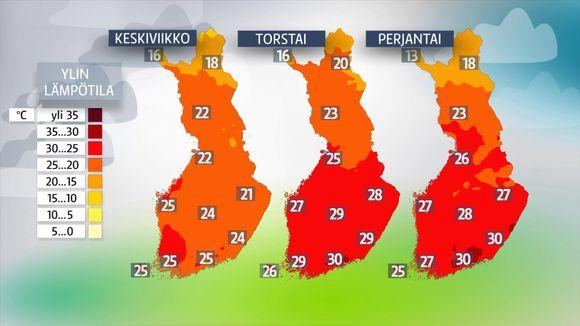 Lämpötilakarttoja.
