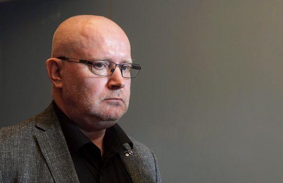 Sinisen tulevaisuuden työministeri Jari Lindström Sinisen tulevaisuuden ministeriryhmän kokouksessa Turussa perjantaina 17. elokuuta.