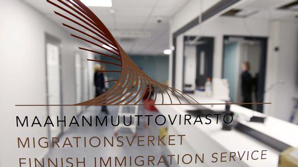 Maahanmuuttoviraston palvelupiste.