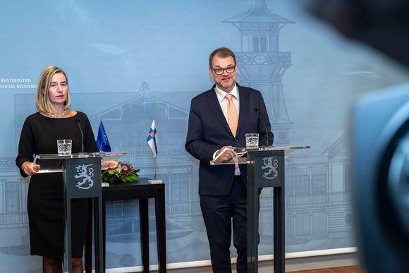 Juha Sipilä ja Federica Mogherini