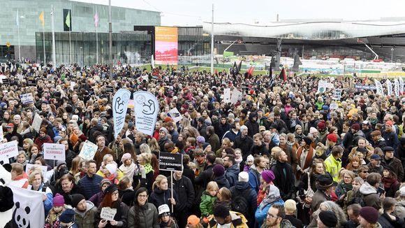 Kepa ry:n järjestämä Ilmastomarssi Helsingissä 20. lokakuuta