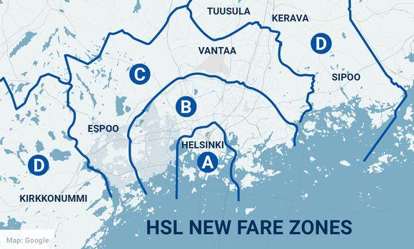 HSL new fare zones