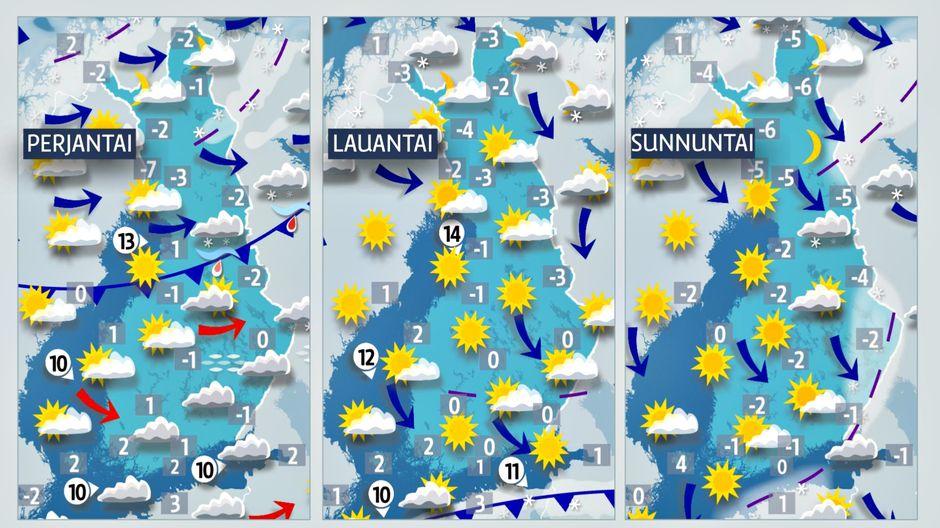 Lämpötilakarttoja
