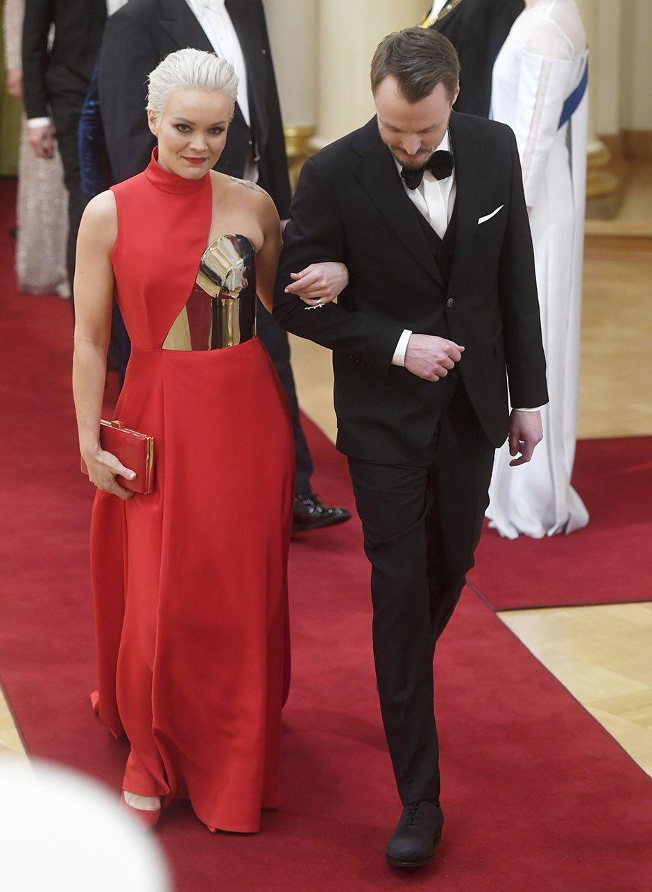 Laulaja Anna Puu ja puoliso Jukka Immonen.