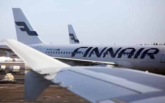 Finnairin koneita kentällä