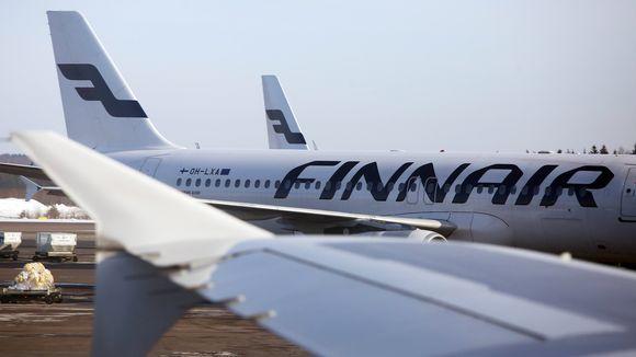 Finnairin koneita Helsinki-Vantaan lentokentällä tammikuussa 2019. Kuvan koneet eivät liity tapahtumaan.
