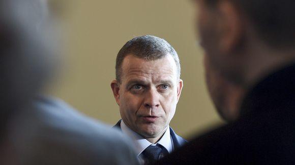 Valtiovarainministeri, kokoomuksen puheenjohtaja Petteri Orpo tapasi tiedotusvälineiden edustajia eduskunnan Valtiosalissa Helsingissä torstaina 31. tammikuuta