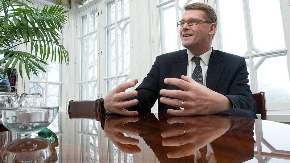 Pääministeri Matti Vanhanen Kesärannassa 13. tammikuuta 2010.