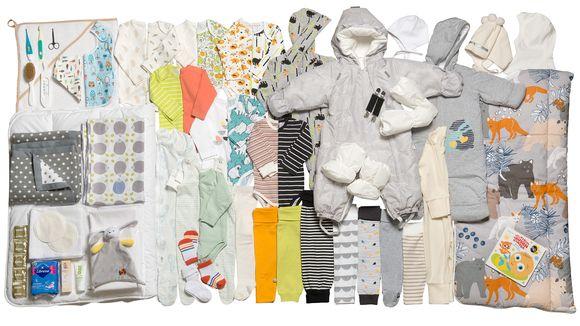 äitiyspakkauksen kaikki vaatteet