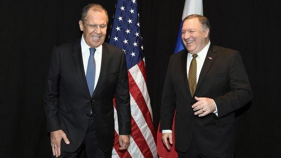 Sergei Lavrov ja Mike Pompeo.