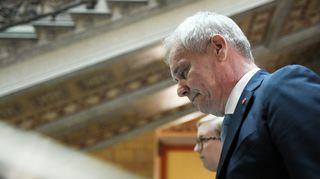 Hallitusneuvotteluiden vetäjä, SDP:n puheenjohtaja Antti Rinne saapui hallitusneuvotteluihin Säätytalolle Helsingissä 23. toukokuuta