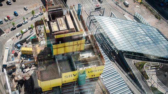 SRV:n rakennustyömaa