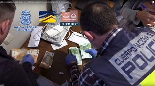 Pysäytyskuva Europolin 10. heinäkuuta 2019 julkistamasta videosta.