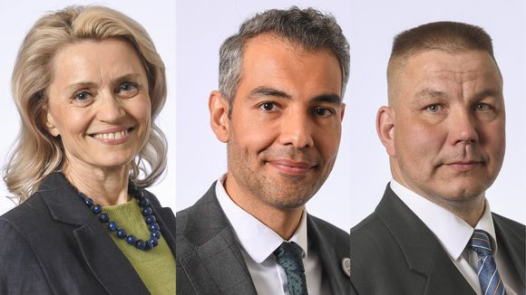 Päivi Räsänen, Hussein Al-Taee ja Juha Mäenpää.