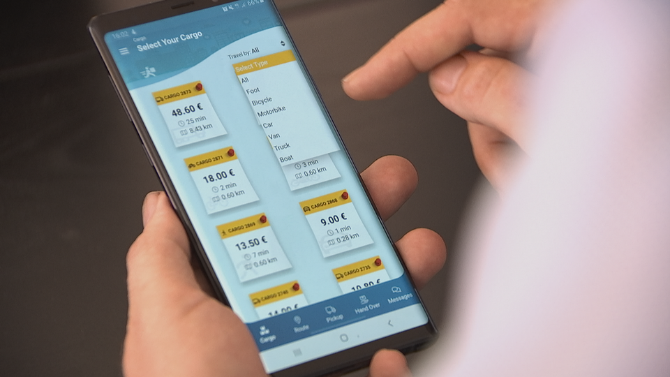 App-based courier service challenges Finland's postal system
