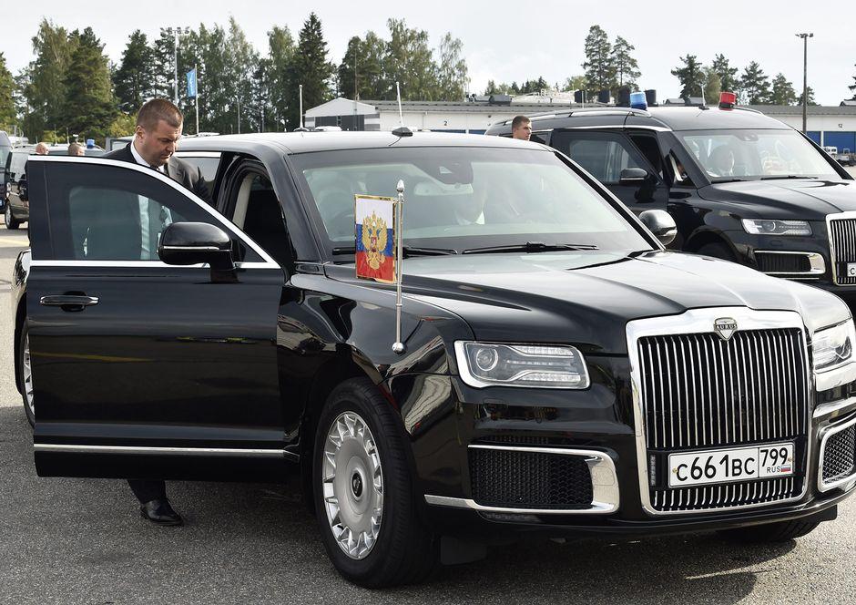 Vladimir Putin saapui Helsinki- Vantaa lentokentälle 21. elokuuta.