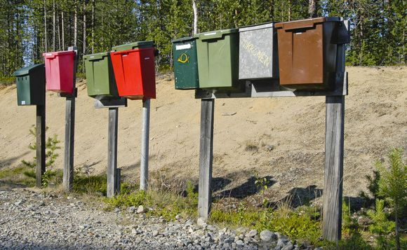postilaatikoita maaseudulla