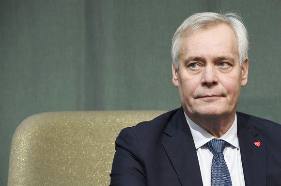Pääministeri Antti Rinne Helsingin kirjamessuilla Messukeskuksessa Helsingissä 27. lokakuuta.