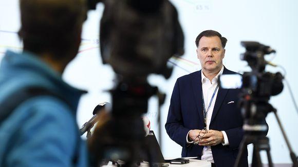 Veikkauksen toimitusjohtaja Olli Sarekoski kertoi valtion veikkausyhtiön uusista strategialinjauksista mediatilaisuudessa.