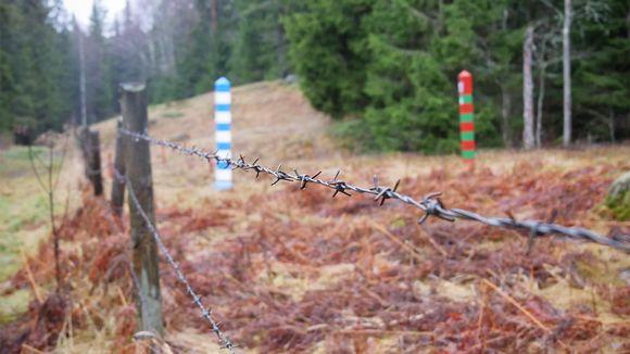 Piikkilankaa Suomen ja Venäjän rajalla