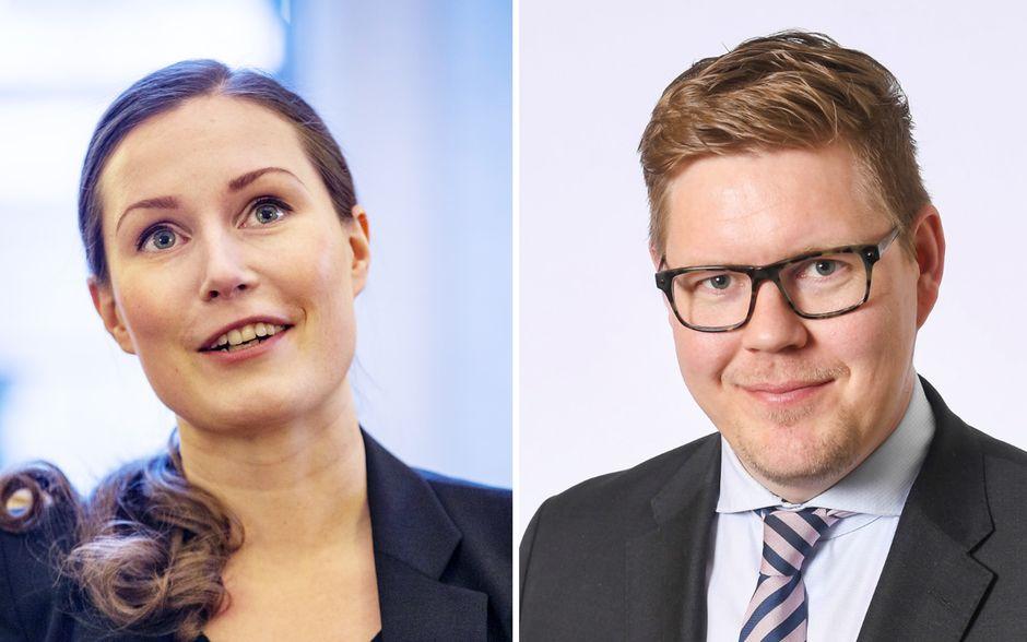 Sanna Marin ja Antti Lindtman