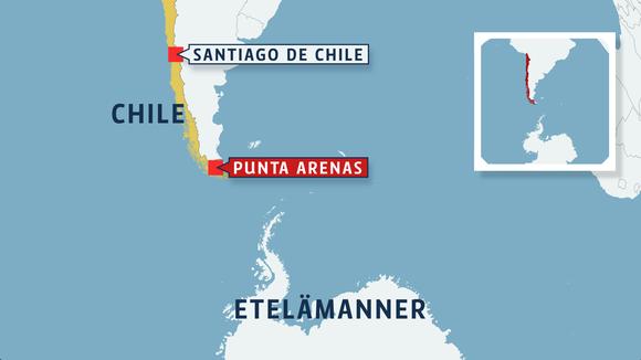 Chilen kartta.