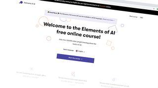 Elements of AI-kurssin etusivu.