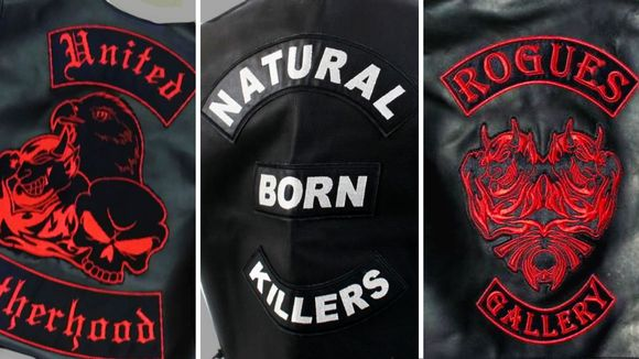 rikollisjärjestöjen united brotherhood, natural born killers, rogues gallery takkien selkämykset