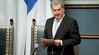 Presidentti Sauli Niinistö valtiopäivien avajaisissa eduskunnassa Helsingissä torstaina 25. huhtikuuta 2019