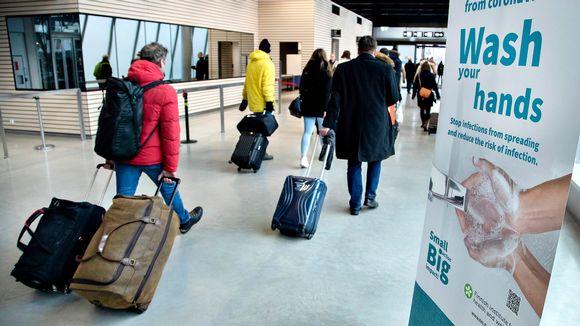 Näkymä Länsisataman terminaalista 5. maaliskuuta.